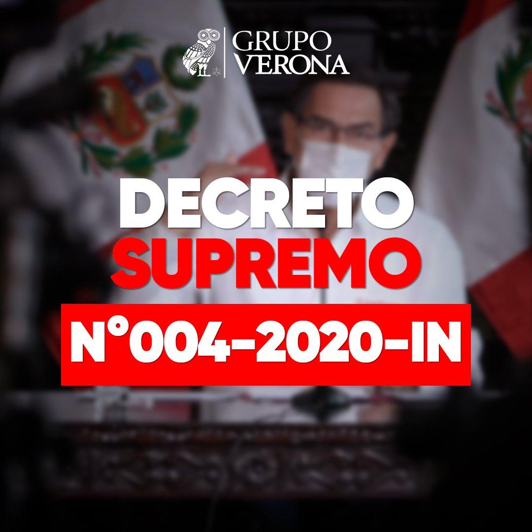 DECRETO SUPREMO Nº004-2020-IN