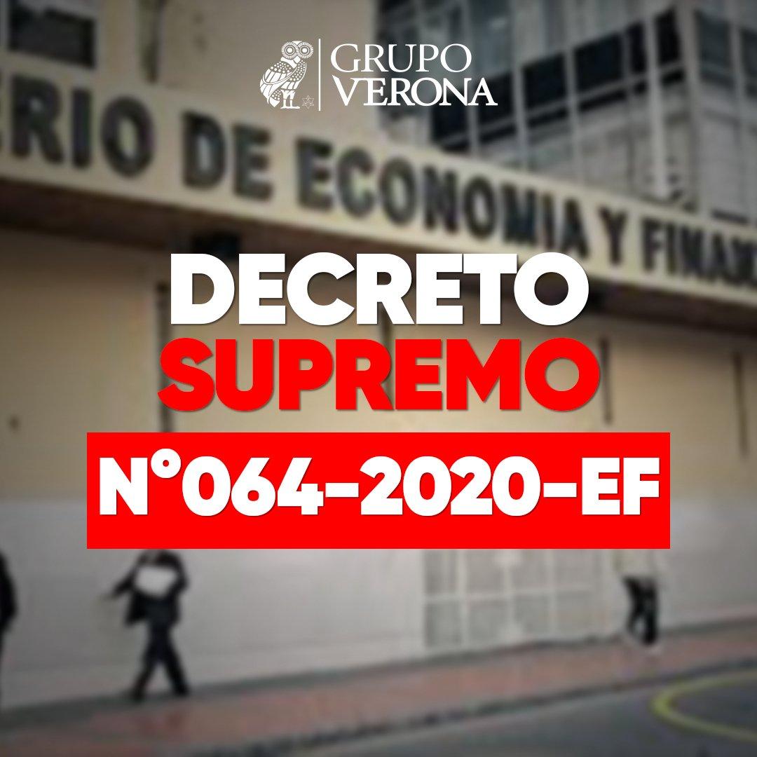 DECRETO SUPREMO N°064-2020-EF