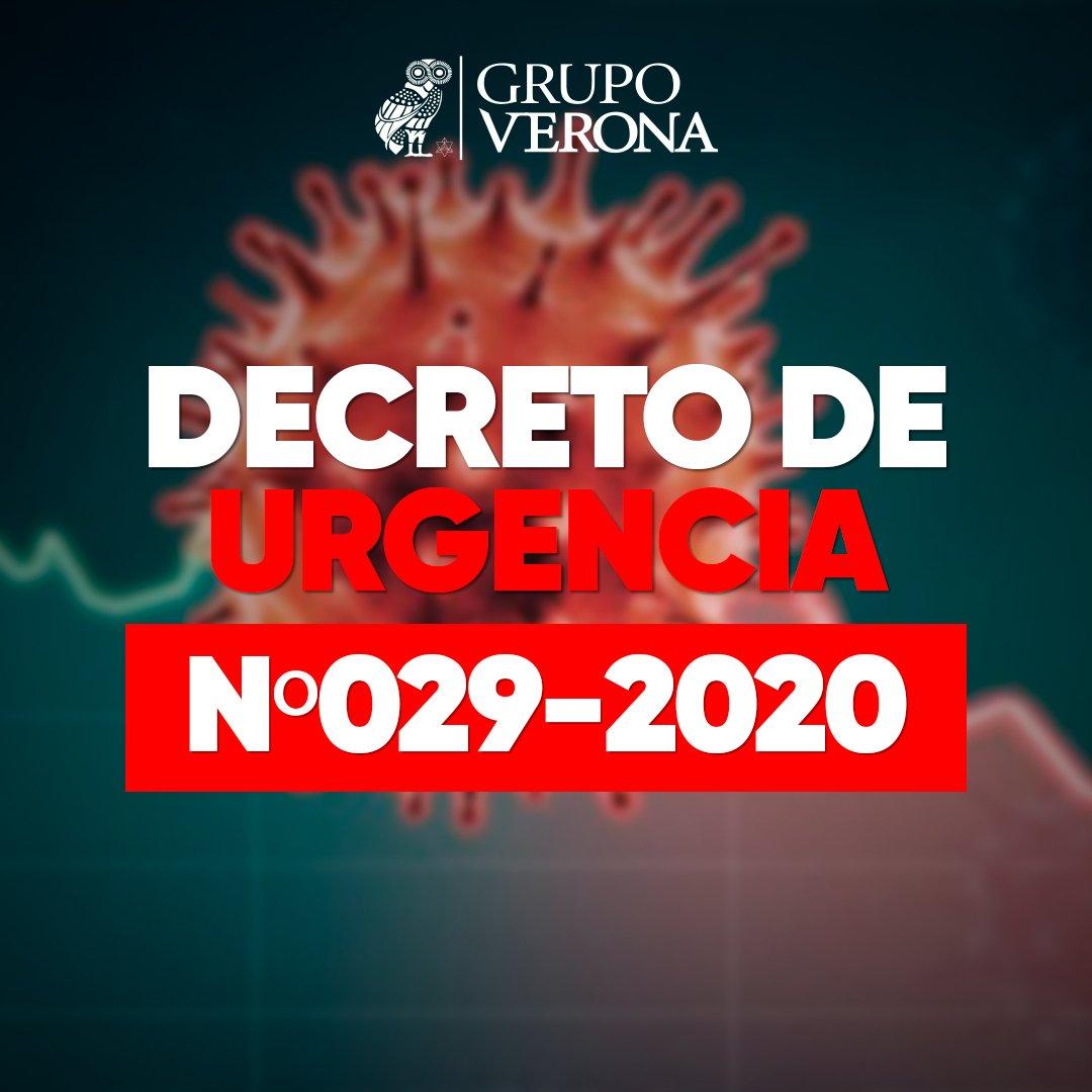 DECRETO DE URGENCIA Nº029-2020