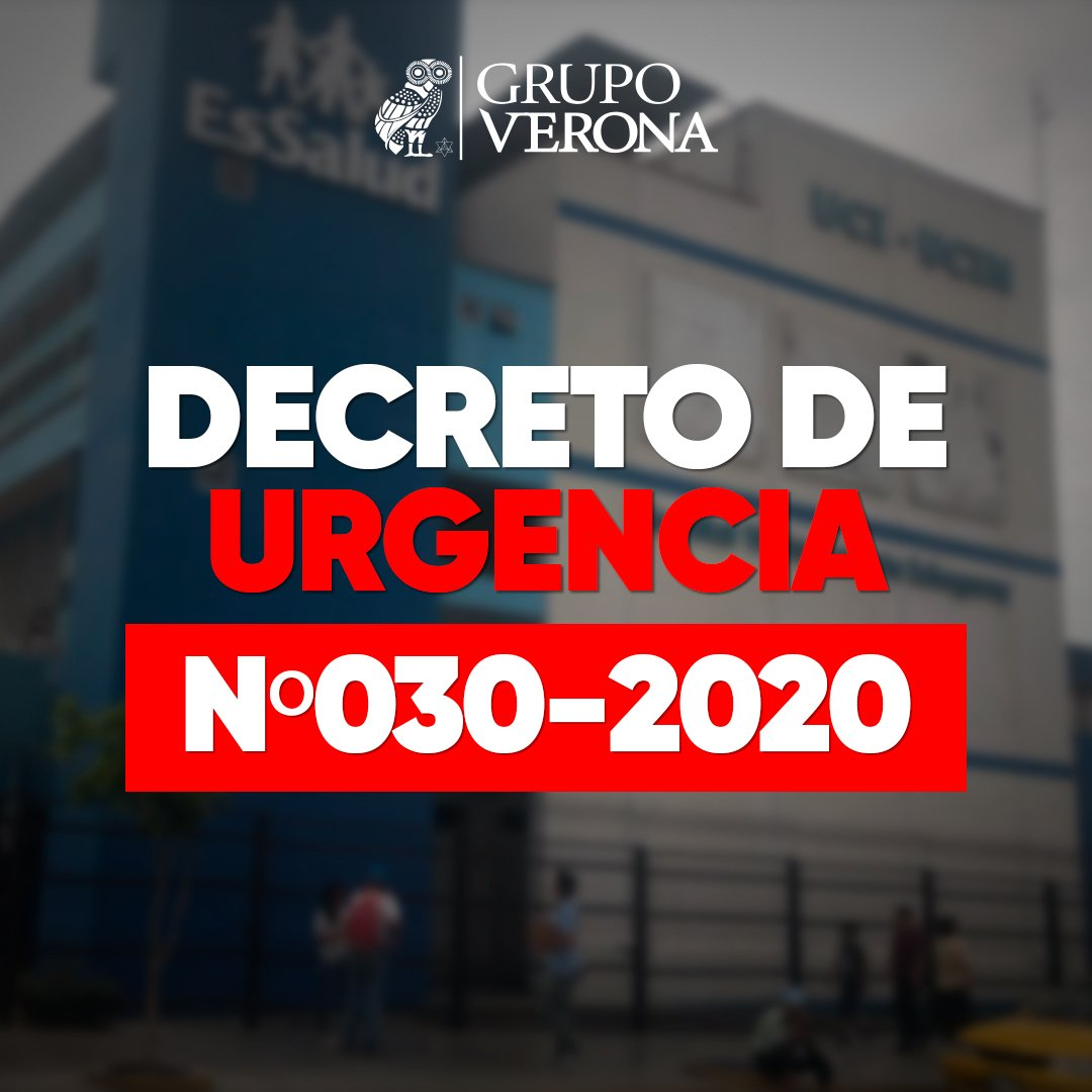DECRETO DE URGENCIA N°030-2020