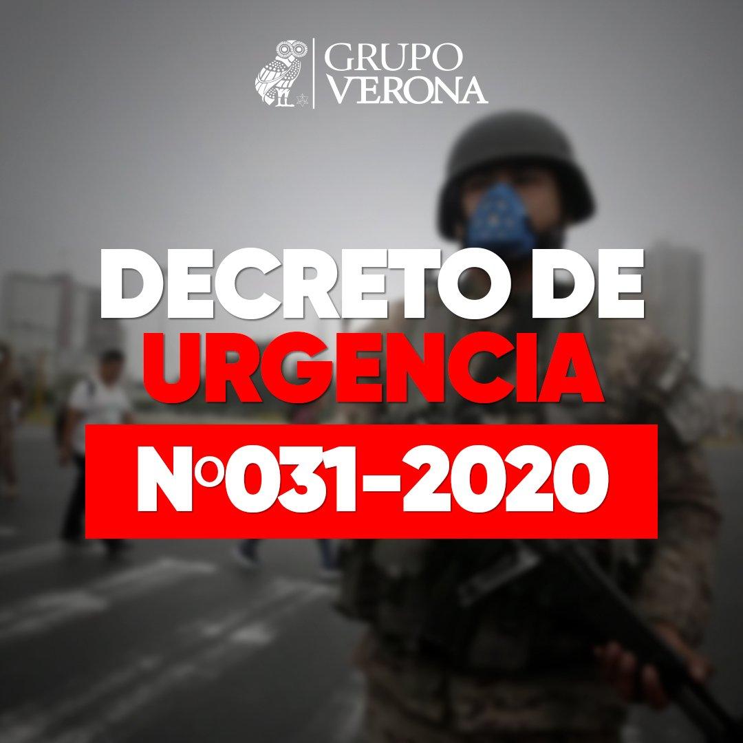 DECRETO DE URGENCIA Nº031-2020