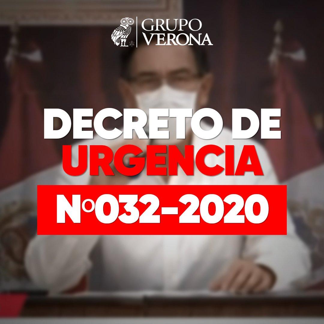 DECRETO DE URGENCIA Nº032-2020