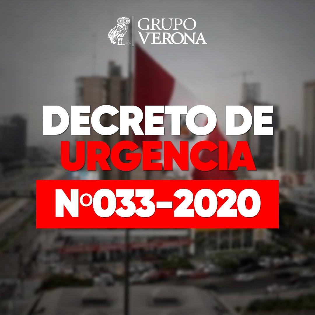 DECRETO DE URGENCIA Nº033-2020