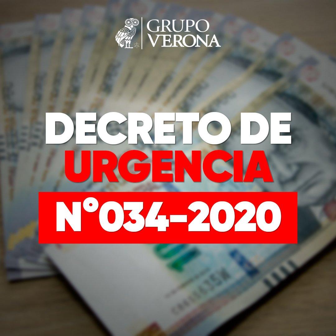DECRETO DE URGENCIA Nº034-2020