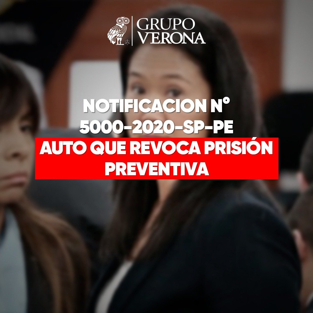 Resolución Que Modifica Detención De Keiko Y Le Da Libertad