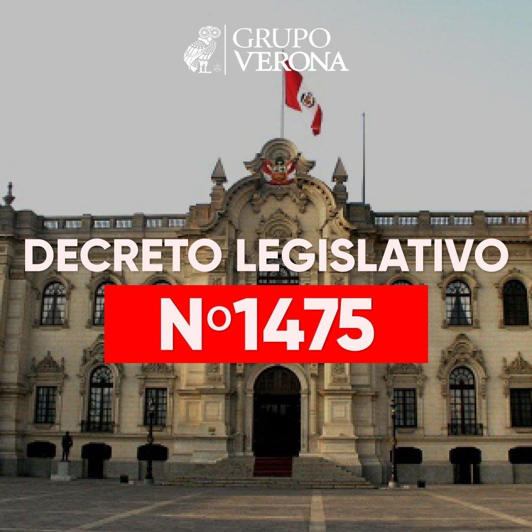 Decreto Legislativo N° 1475