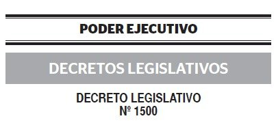 Decreto Legislativo N°1500