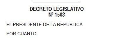 Decreto Legislativo 1503