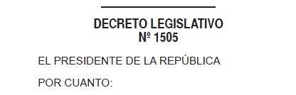 Decreto Legislativo 1505