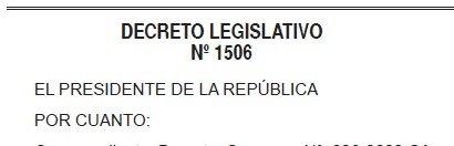 Decreto Legislativo 1506
