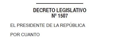 Decreto Legislativo 1507