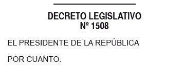 Decreto Legislativo 1508