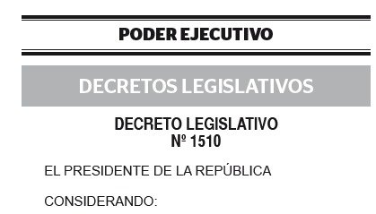 DECRETO LEGISLATIVO N° 1510