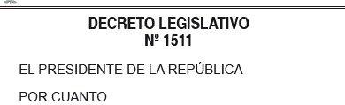 DECRETO LEGISLATIVO N° 1511