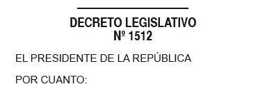 DECRETO LEGISLATIVO N° 1512