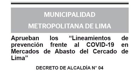 DECRETO DE ALCALDIA N° 04