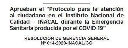 RESOLUCION N° 014-2020-INACAL/GG