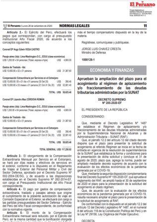 Decreto Supremo 285-2020-EF | Amplían Plazo Para Acogerse Al Fraccionamiento Tributario (RAF)