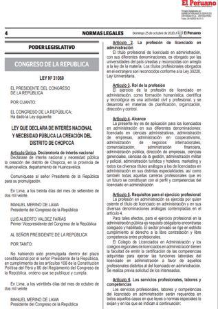 Ley De Ejercicio Profesional Del Licenciado En Administración