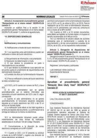 """Procedimiento General Almacén Libre """"duty Free"""""""