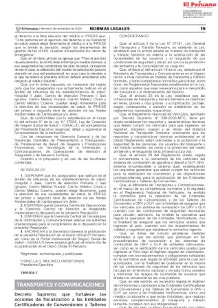 Decreto Supremo 023-2020-MTC