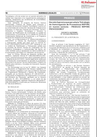 Decreto Supremo 019-2020-PRODUCE