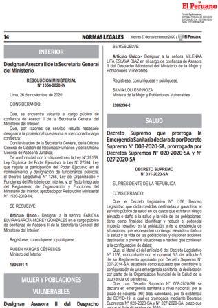 Decreto Supremo 031-2020-SA