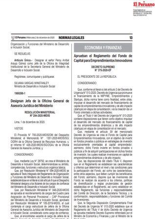 Decreto Supremo 375-2020