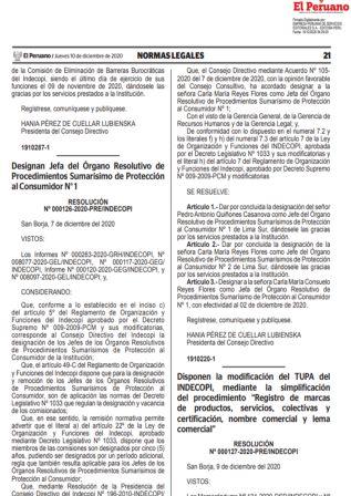 Resolución 000127-2020-PRE/INDECOPI