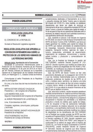 Decreto De Urgencia 135-2020