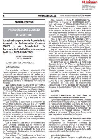Decreto Supremo 197-2020-PCM