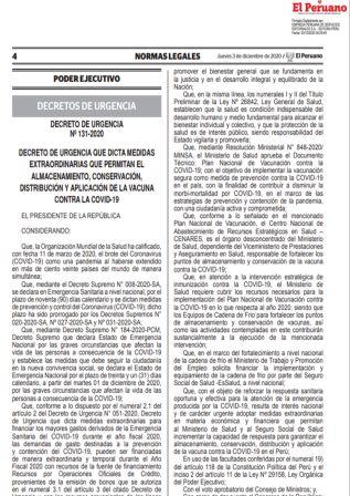 Decreto De Urgencia 131-2020