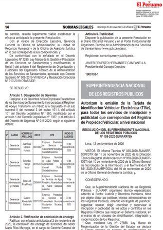 Resolución 158-2020-SUNARP/SN