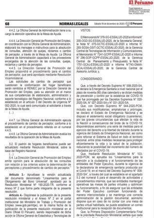 Resolución De Gerencia General 1530-GG-ESSALUD-2020