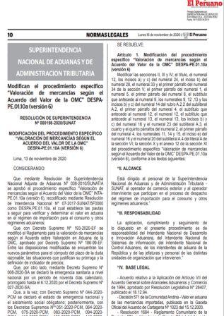Resolución De Superintendencia 000198-2020/SUNAT