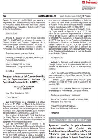 Resolución Ministerial 277-2020-MINCETUR
