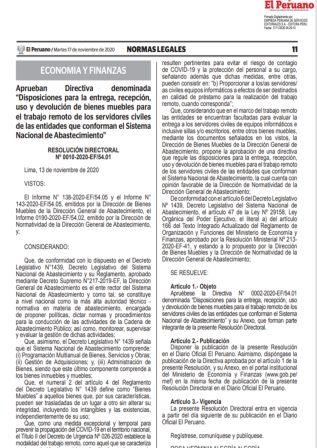Resolución Ministerial 0605-2020-RE