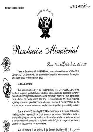 Resolución Ministerial 972-MINSA