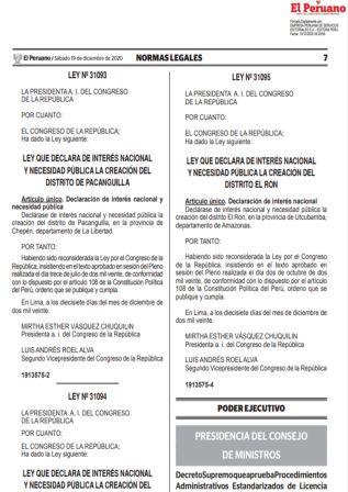 Decreto Supremo 200-2020-PCM