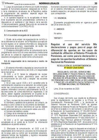 Resolución De Superintendencia 000207-2020/SUNAT