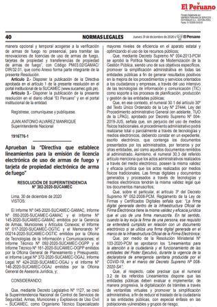Resolución N°382-2020-SUCAMEC