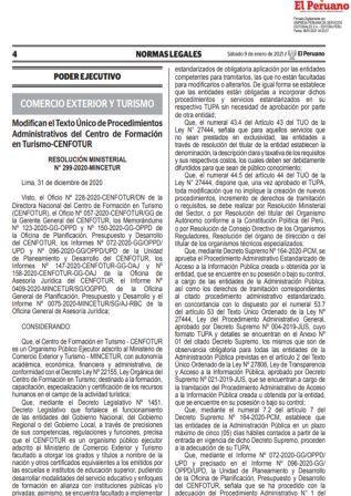 Resolución Ministerial 299-2020-MINCETUR