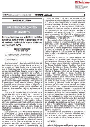 Decreto Supremo N°207-2020