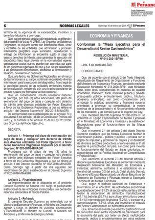 Resolución Ministerial N°010-2021-EF