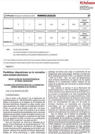 Resolución De Superintendencia 000221-2020/SUNAT