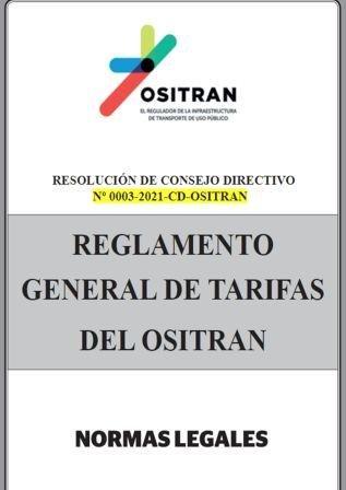 Resolución 003-2021-CD-OSITRAN