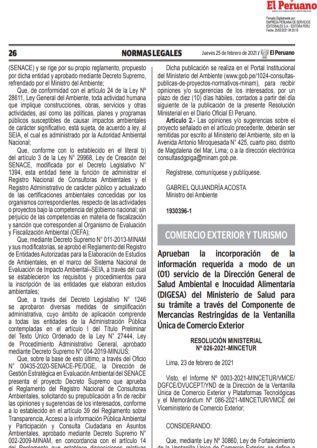 Resolución Ministerial N°026-2021-MINCETUR