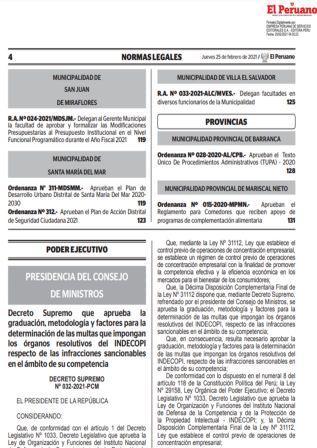 Decreto Supremo N°032-2021-PCM