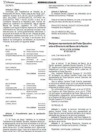 Resolución Ministerial N°089-2021-EF/15