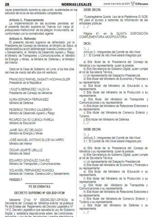 Decreto Supremo N°004-2021-MINCETUR